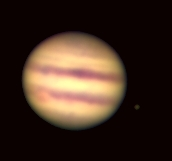 Jupiter and Io observed with the Sproul refractor