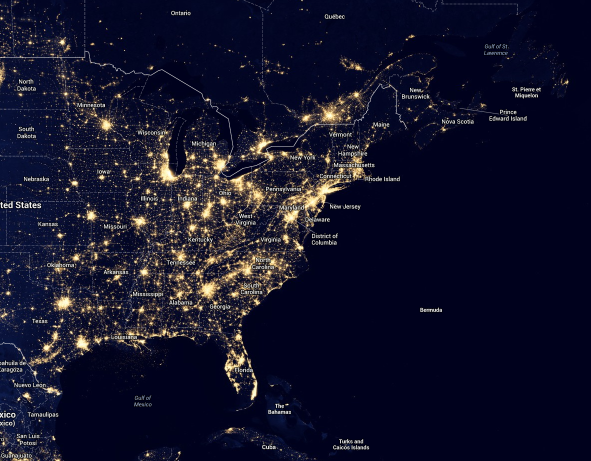 David H Cohen Astronomy Information For The Public - Dark sky map